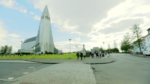 Reykjavik Cityscape in Iceland, Slow motion