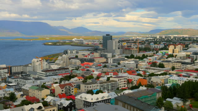 reykjavik cityscape in iceland - reykjavik stock videos and b-roll footage
