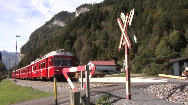 Rhaetian Railway Ge 4/4 I with push–pull train between Landquart and Davos