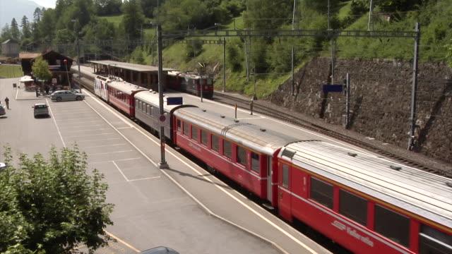 rhaetian railway / rhätische bahn - railway junction stock videos & royalty-free footage