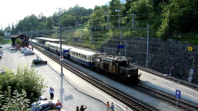 rhaetian railway / rhätische bahn - tourist train stock videos and b-roll footage
