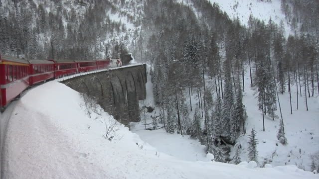 RhB train on the World Heritage Albula Railway