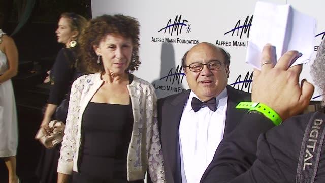 Rhea Perlman and Danny DeVito at the 3rd Annual Alfred Mann Foundation Innovation Inspiration Gala Honoring Richard Nancy Riordan at Mann Estate in...