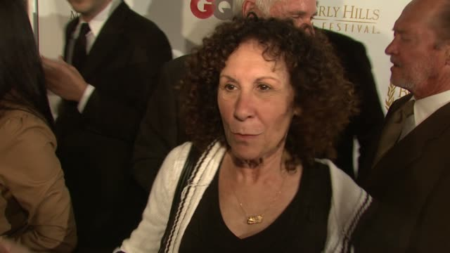 """rhea perlman on her cameo in """"cat dragged in,"""" why she enjoyed working with family on the project, and the beverly hills film festival at the 2008... - cameo brooch stock videos & royalty-free footage"""
