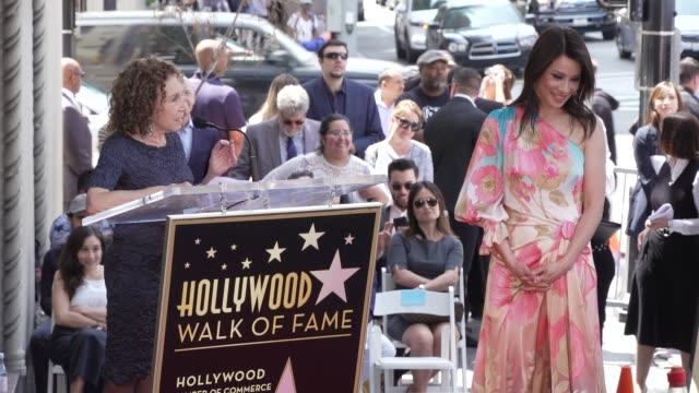 rhea perlman on lucy's career and their friendship at the lucy liu honored with a star on the hollywood walk of fame on may 01, 2019 in hollywood,... - lucy liu stock videos & royalty-free footage