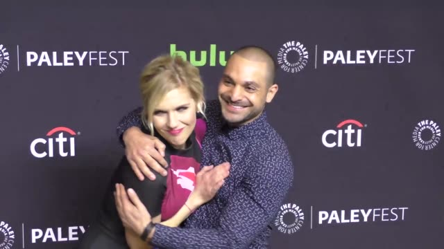 rhea seehorn and michael mando at the paley center for media 'better call saul' presentation at paleyfest at the dolby theatre in hollywood at... - paley center for media los angeles stock videos & royalty-free footage