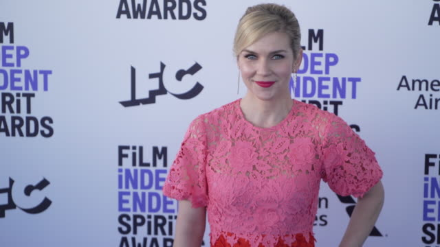 rhea seehorn at the 2020 film independent spirit awards on february 08 2020 in santa monica california - film independent spirit awards stock videos & royalty-free footage