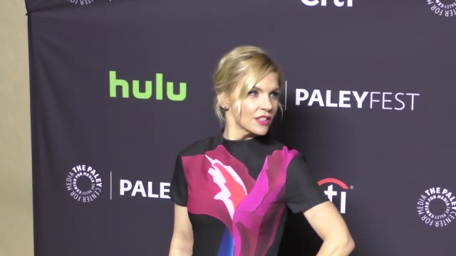 rhea seehorn at the paley center for media 'better call saul' presentation at paleyfest at the dolby theatre in hollywood at celebrity sightings in... - paley center for media los angeles stock videos & royalty-free footage