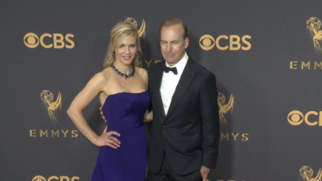 rhea seehorn, bob odenkirk at the 69th annual primetime emmy awards at microsoft theater on september 17, 2017 in los angeles, california. - annual primetime emmy awards stock-videos und b-roll-filmmaterial