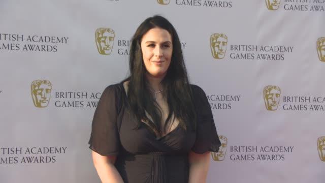 stockvideo's en b-roll-footage met rhianna pratchett at bafta video games awards on april 06 2017 in london england - bafta awards