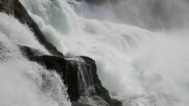 rhine river rushing over rocks - extreme weather stock videos & royalty-free footage