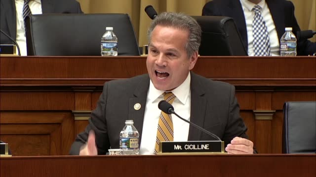 rhode island congressman david cicilline asks deputy attorney general rod rosenstein at a hearing of the house judiciary committee about the context... - constitution stock videos and b-roll footage