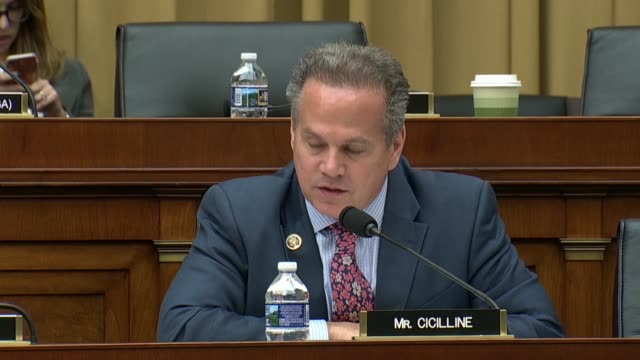 rhode island congressman david cicilline engages fbi director christopher wray at an oversight hearing of the house judiciary committee about about a... - christopher a. wray stock videos & royalty-free footage