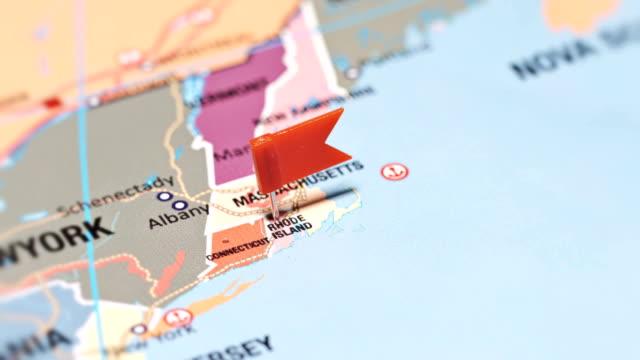 米国からロードアイランド - ロードアイランド州点の映像素材/bロール
