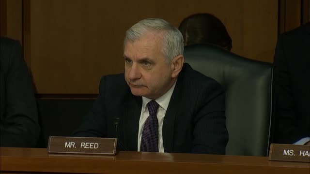 Rhode Island Senator Jack Reed references press reports about attempts by President Donald Trump having asked Director of National Intelligence Dan...