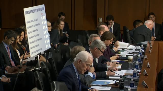 Rhode Island Senator Sheldon Whitehouse concludes his prepared remarks at a hearing of the Senate Judiciary Committee with former acting Attorney...