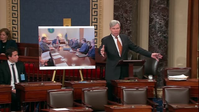 stockvideo's en b-roll-footage met rhode island senator sheldon whitehouse continues a discussion of the environmental protection agency during debate on the nomination of andrew... - mileubeschermingorganisatie