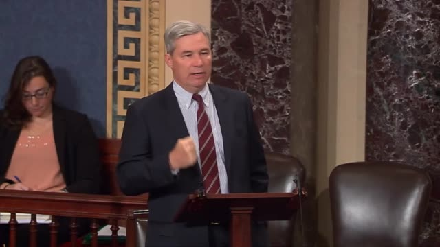 stockvideo's en b-roll-footage met rhode island senator sheldon whitehouse describes legislation attacking the waters of the us rule of the environmental protection agency as a... - eriemeer