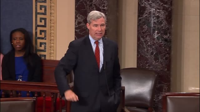 rhode island senator sheldon whitehouse engages presiding officer senator mike rounds in seeking to clarify the effect of a successful indication of... - out of context stock videos & royalty-free footage