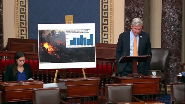 vidéos et rushes de rhode island senator sheldon whitehouse says in his 253rd time to wake up speech on climate change that media matters showed that cable news devoted... - avidité