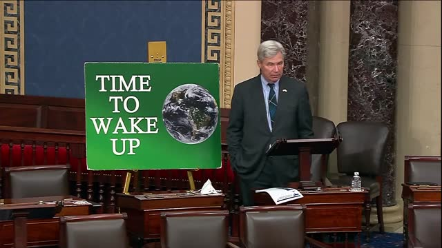 rhode island senator sheldon whitehouse says in last of over 275 climate change themed time to wake up speeches that when the he wept at national... - partisan politics stock videos & royalty-free footage
