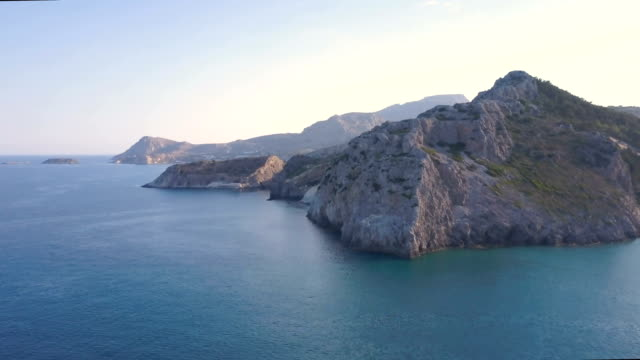 rhodes wild coast - rhodes dodecanese islands stock videos & royalty-free footage