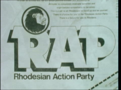 Rhodesia Action Party ***SHOTLIST