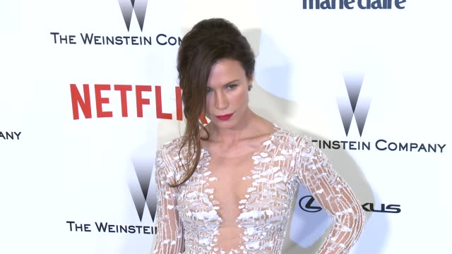 Rhona Mitra at the 2015 Weinstein Company And Netflix Golden Globe After Party at Robinsons May Lot on January 11 2015 in Beverly Hills California