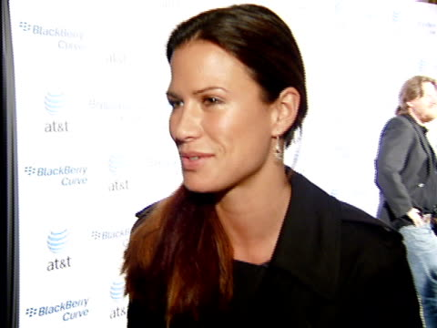 Rhona Mitra at the BlackBerry Curve from ATT US Launch Party at Beverly Hills California