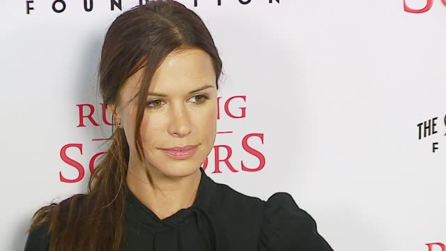 rhona mitra at the tristar pictures presents 'running with scissors' los angeles premiere at academy of motion picture arts sciences in beverly hills... - tristar pictures stock videos and b-roll footage