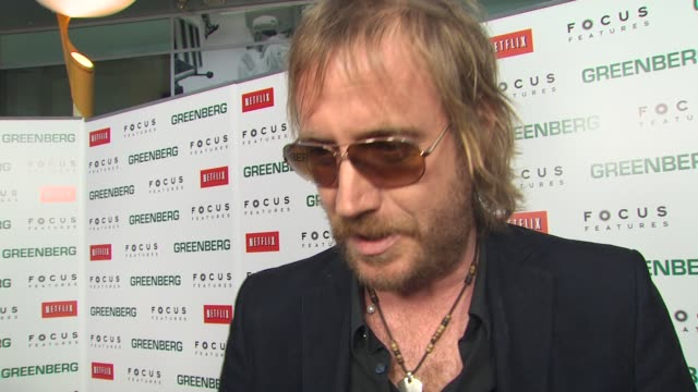 rhys ifans on his process of acting on the vulnerability of the character on how the audience sees greenberg on his experience working with ben at... - vulnerability stock videos and b-roll footage