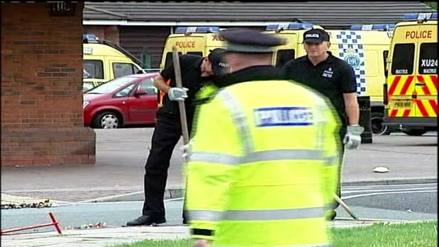 Further arrests / Tribute at Everton FC Police officers searching drains