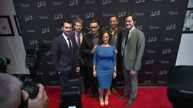rhys tmoas alex buono fred armisen jennifer caserta seth meyers and bill hader at documentary now new york screening at new world stages on august 18... - seth meyers stock videos and b-roll footage