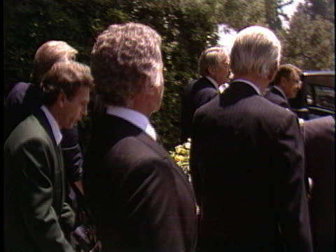 Ricardo Montalban at the Vincente Minnelli Funeral at Forest Hills in Forest Hills CA