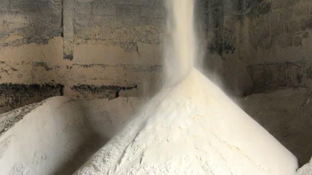 Rice Bran Falls in to pile