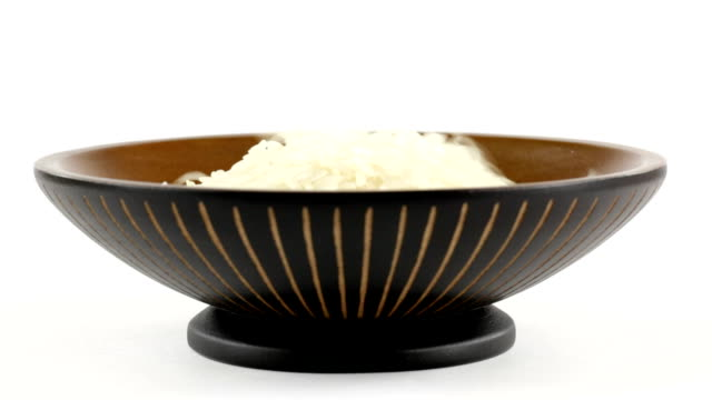 rice grains - bowl stock videos & royalty-free footage