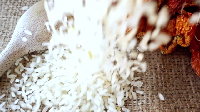Rice Pieces Falling