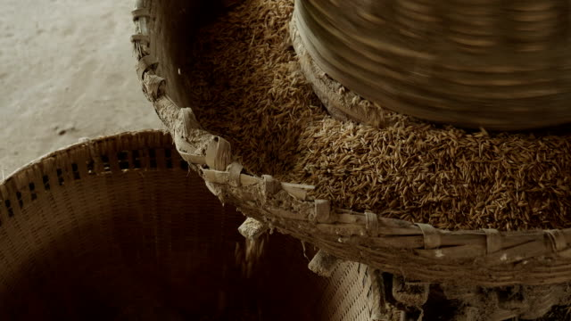 rice pounding with ancient methods - ancient stock videos & royalty-free footage