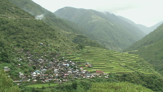 rice terraces of the cordilleras, philippines - philippinen stock-videos und b-roll-filmmaterial
