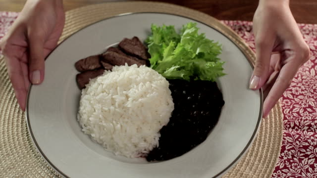 rice with beans - bean stock videos & royalty-free footage