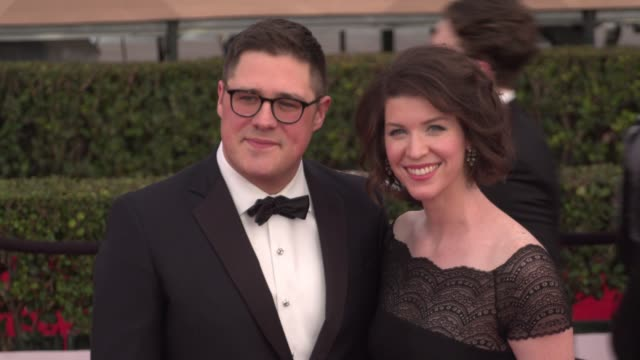 rich sommer at the 22nd annual screen actors guild awards - arrivals at the shrine auditorium on january 30, 2016 in los angeles, california. 4k... - shrine auditorium stock videos & royalty-free footage