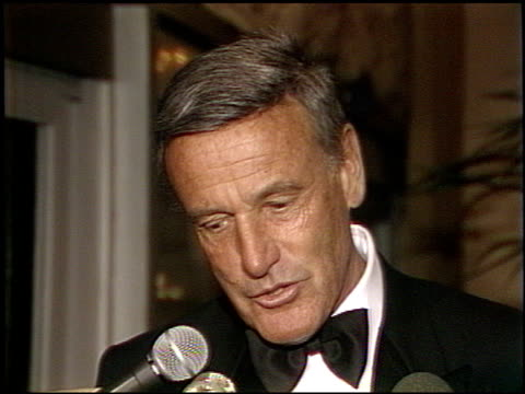 richard anderson at the afi awards honoring gregory peck at the beverly hilton in beverly hills california on march 9 1989 - gregory peck stock videos and b-roll footage