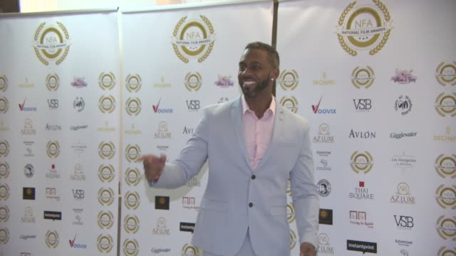 richard blackwood at the 4th annual national film awards at porchester hall on march 28, 2018 in london, england. - ポーチェスター点の映像素材/bロール
