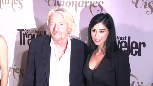 Richard Branson Sarah Silverman at Conde Nast Traveler Celebrates 'The Visionaries' And 25 Years Of Truth In Travel in New York 09/18/12
