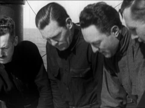 richard byrd 2 men on deck of ship plotting expedition to the north pole / newsreel - 1926 stock videos & royalty-free footage