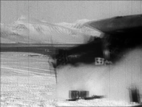 richard byrd's airplane skidding before flight over the north pole / newsreel - 1926 stock videos & royalty-free footage