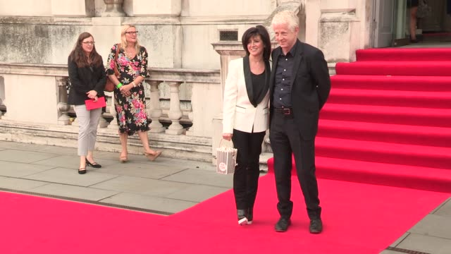 vidéos et rushes de richard curtis, emma freud at 'about time' world premiere at somerset house on august 08, 2013 in london, england - emma freud