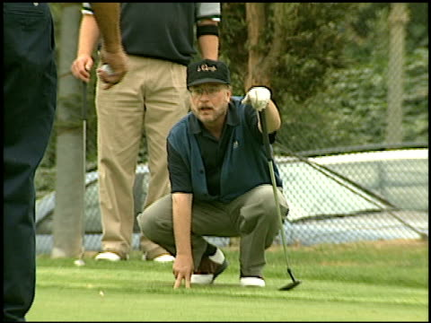 vídeos de stock e filmes b-roll de richard dreyfuss at the lapd celebrity golf tournament at rancho park in west los angeles california on may 17 1997 - richard dreyfuss