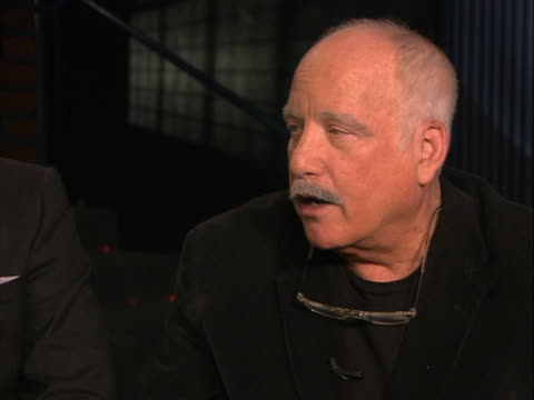 richard dreyfuss reunites with the cast of stand by me, which includes will wheaton, corey feldman and jerry o'connell. he describes his uneasiness... - richard dreyfuss stock videos & royalty-free footage