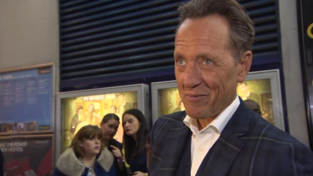 richard e grant on being in the show, how he got involved, working with lena dunham, his character at girls' uk premiere at cineworld haymarket on... - richard e. grant stock videos & royalty-free footage